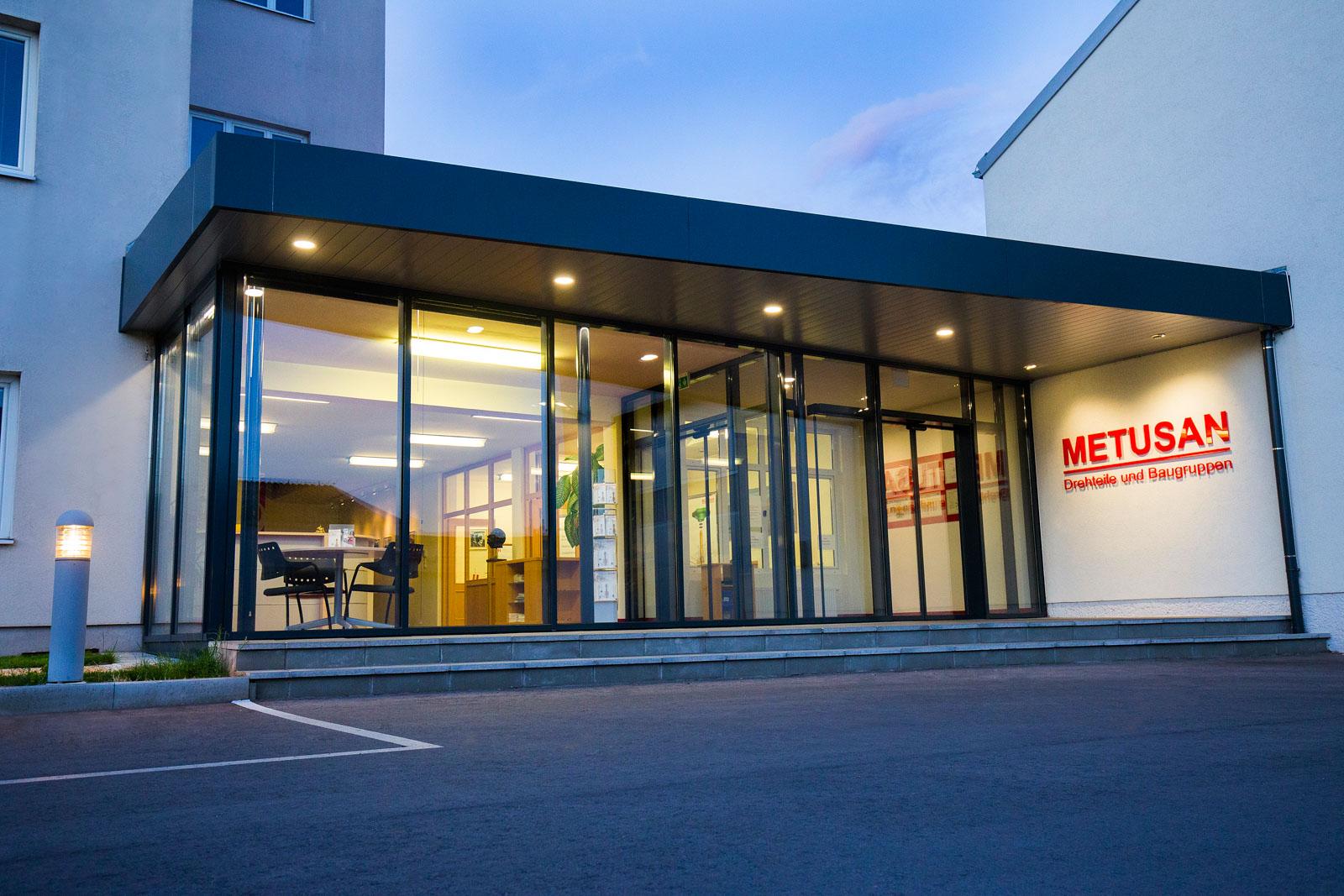 Eingangsbereich METUSAN TURNING GmbH