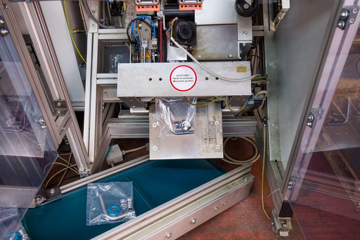 Verpackungsanlage bei METUSAN TURNING GmbH